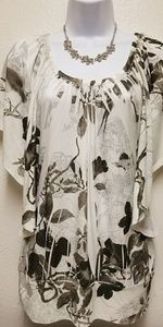 Charlotte Rouse butterfly sleeve print top